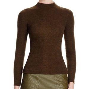 Alice + Olivia Mockneck Long Sleeve Shirt